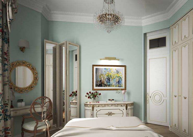 Дизайн проект квартиры в стиле эклектика: Спальни в . Автор – Альбина Романова