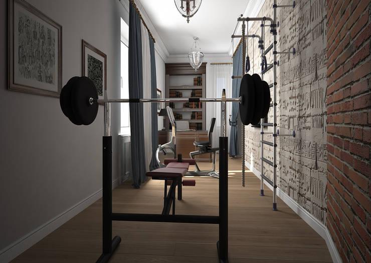Дизайн проект квартиры в стиле эклектика: Тренажерные комнаты в . Автор – Альбина Романова