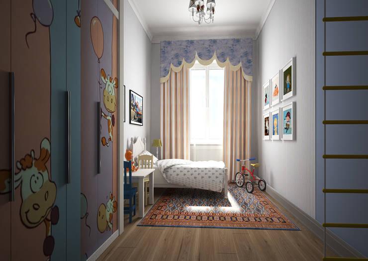Дизайн проект квартиры в стиле эклектика: Детские комнаты в . Автор – Альбина Романова