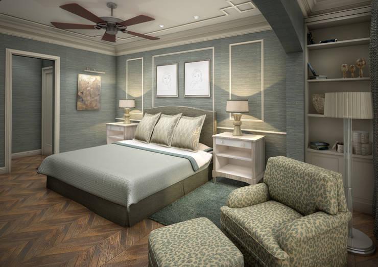 Traditional Master Room:  de estilo  por DULLITA Furniture & 3D Design