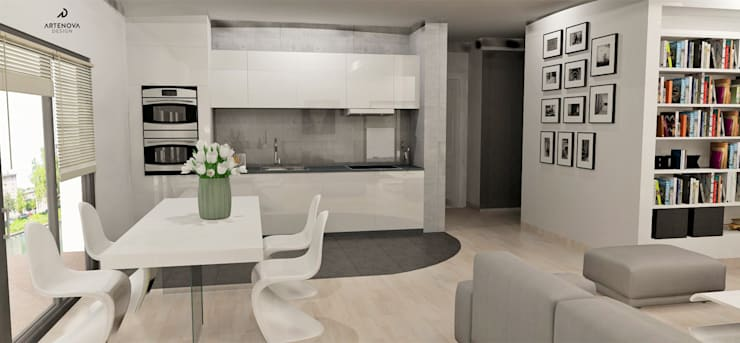 Minimalistyczny apartament : styl , w kategorii Kuchnia zaprojektowany przez Artenova Design,Nowoczesny