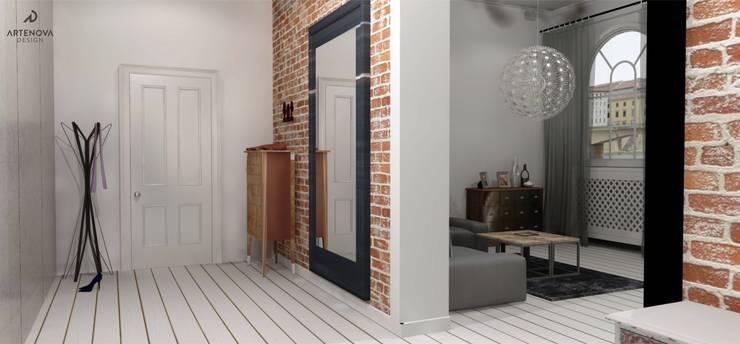Rstykalne mieszkanie w kamienicy Warszawa: styl , w kategorii Korytarz, przedpokój zaprojektowany przez Artenova Design