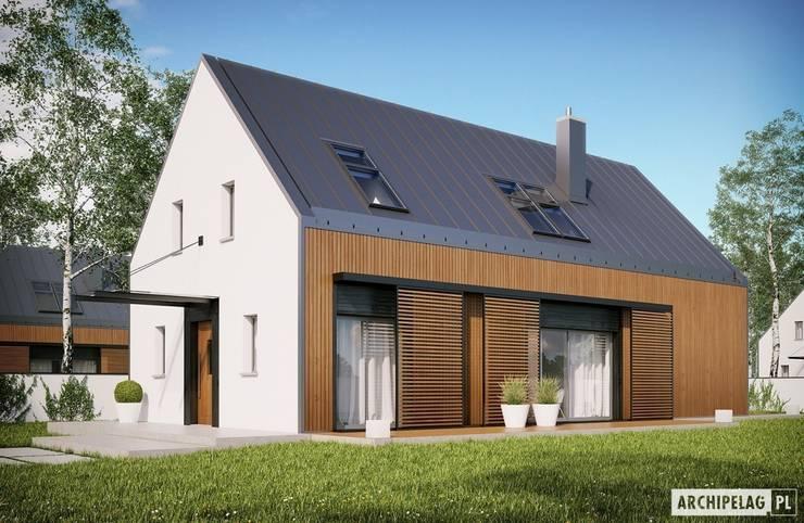 Projekt domu EX 14 : styl , w kategorii Domy zaprojektowany przez Pracownia Projektowa ARCHIPELAG