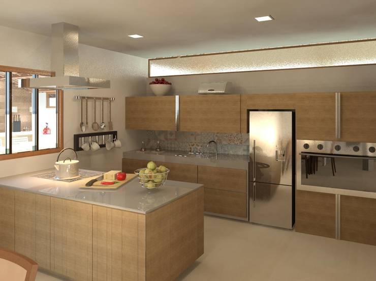 Cozinha com ilha: Cozinhas modernas por Patrícia Alvarenga