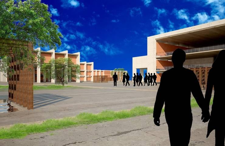 Centro Comunitario La Florida: Gimnasios de estilo  por Breka Diseño + Construcción