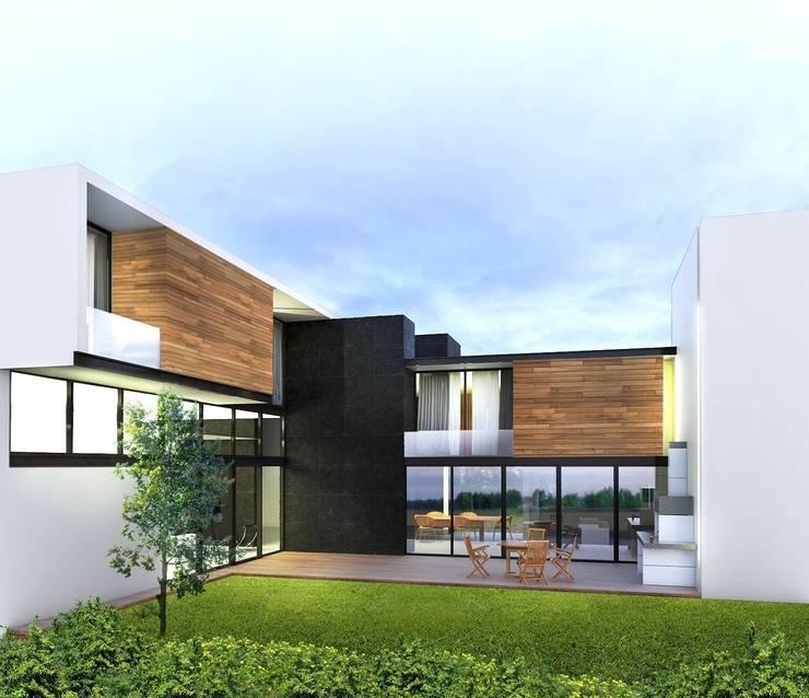 Casa FERRO: Casas de estilo  por Taller Habitat Arquitectos