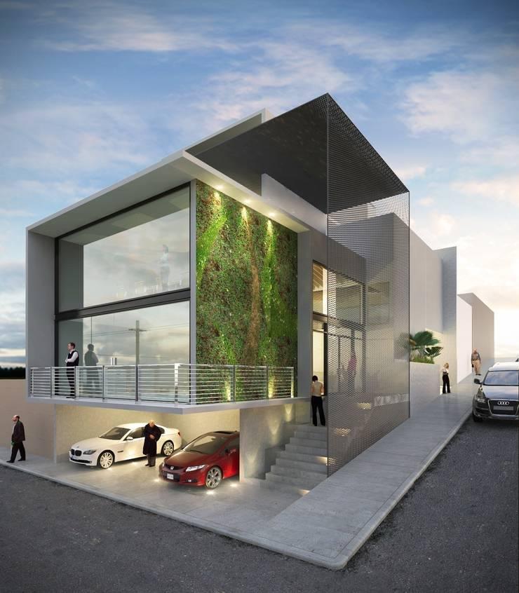 Sonido Estrella: Oficinas y tiendas de estilo  por Taller Habitat Arquitectos