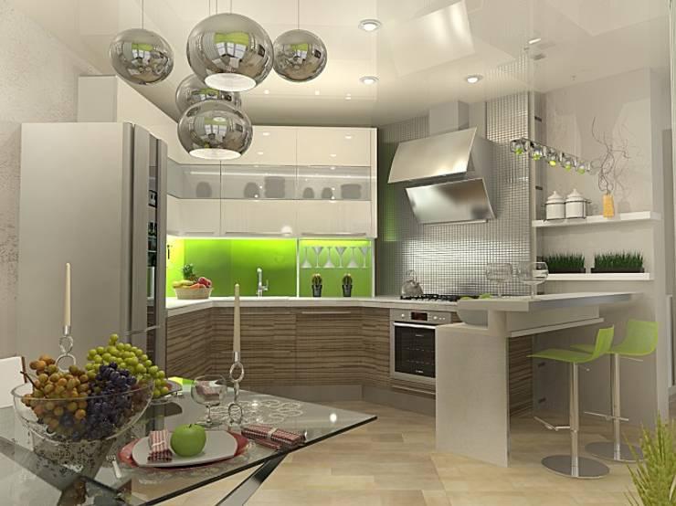 Квартира – студия : Кухни в . Автор – Мозжерина Марина