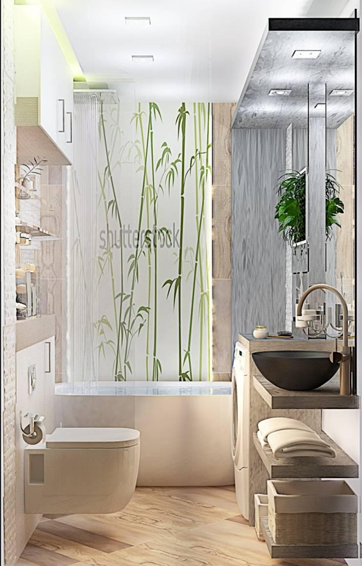 Квартира – студия : Ванные комнаты в . Автор – Мозжерина Марина