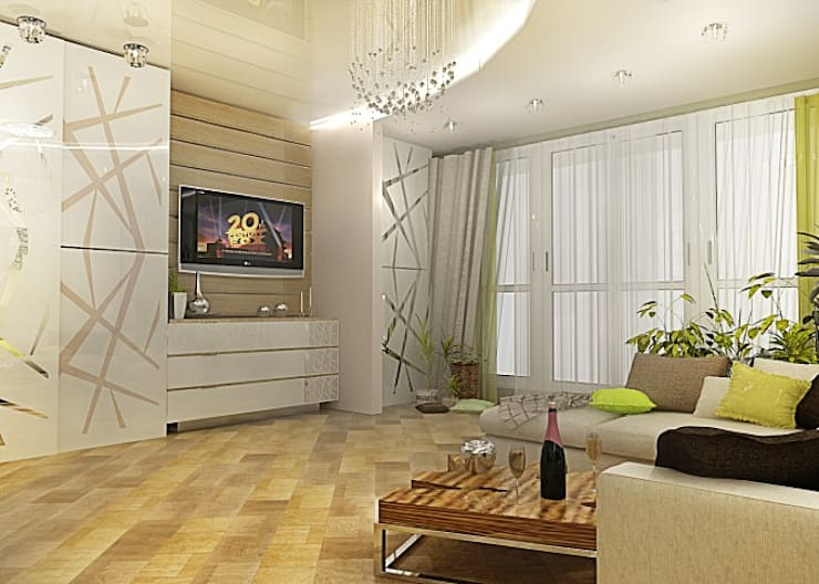 Квартира – студия : Гостиная в . Автор – Мозжерина Марина