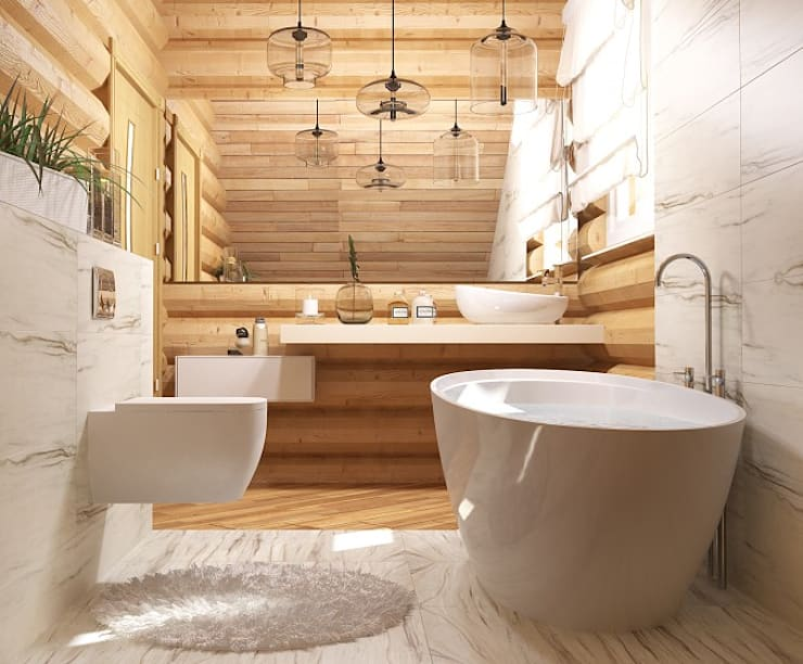 Projekty,  Łazienka zaprojektowane przez Мозжерина Марина
