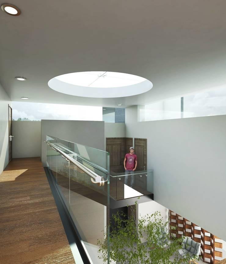 Casa FERRO: Terrazas de estilo  por Taller Habitat Arquitectos