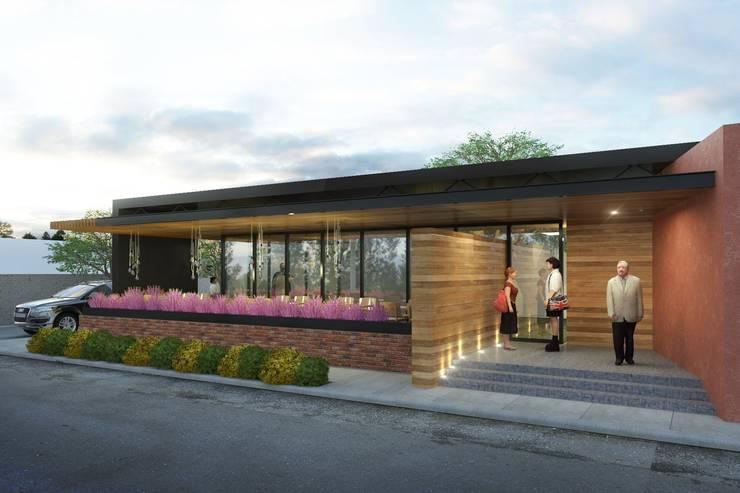 Restaurante VLL: Restaurantes de estilo  por Taller Habitat Arquitectos