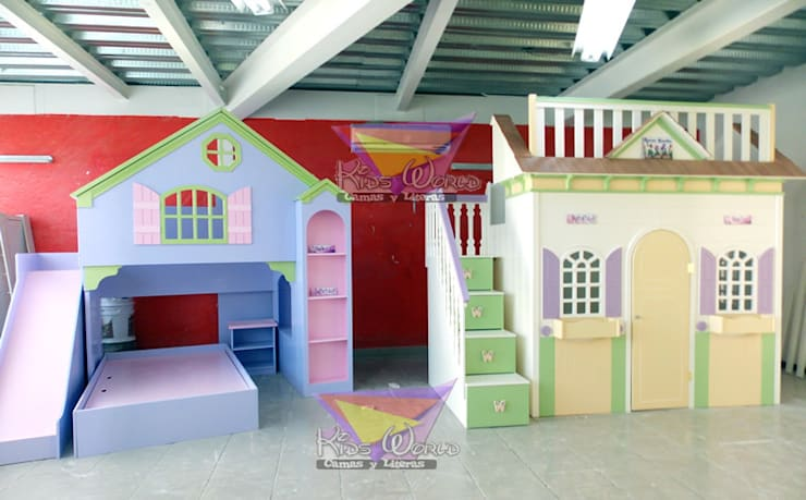Hermosas casitas para niñas: Recámaras de estilo  por camas y literas infantiles kids world