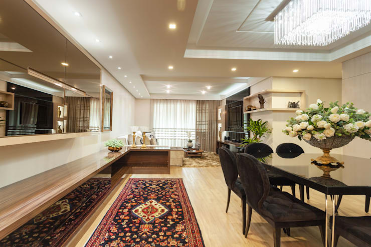 Salas de estilo moderno por msaviarquitetura