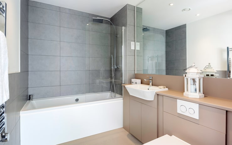 modern Bathroom by WN Interiors of Poole in Dorset