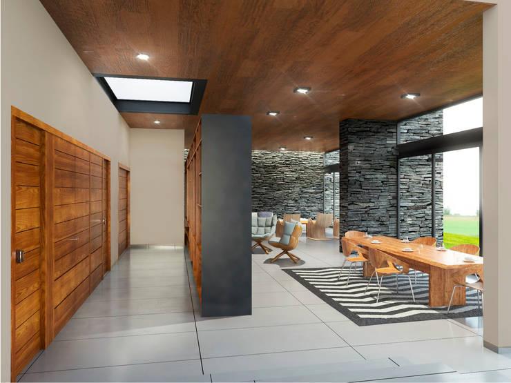 Casa EF: Comedores de estilo  por Taller Habitat Arquitectos