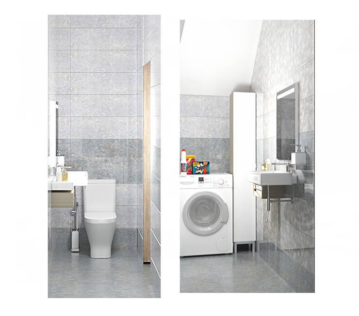2х этажный дом: Ванные комнаты в . Автор – Мозжерина Марина