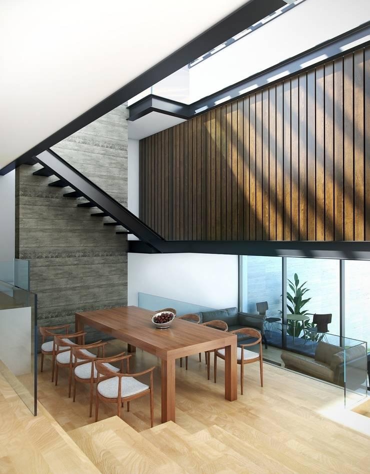 Casa Tepetate: Comedores de estilo  por Taller Habitat Arquitectos