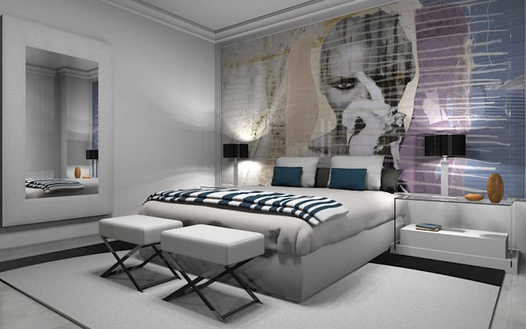 modern Bedroom by AZD Diseño Interior