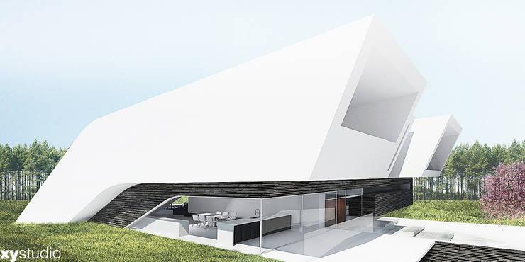 Dom jednorodzinny 2015: styl , w kategorii Domy zaprojektowany przez xystudio