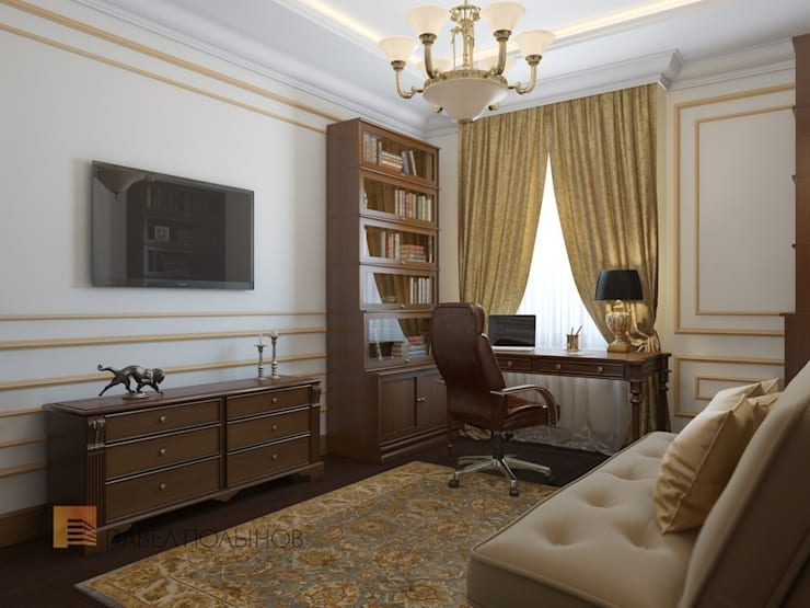 Кабинет: Рабочие кабинеты в . Автор – Студия Павла Полынова