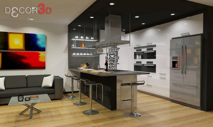 Cocinas de estilo  por Nuria Decor3D