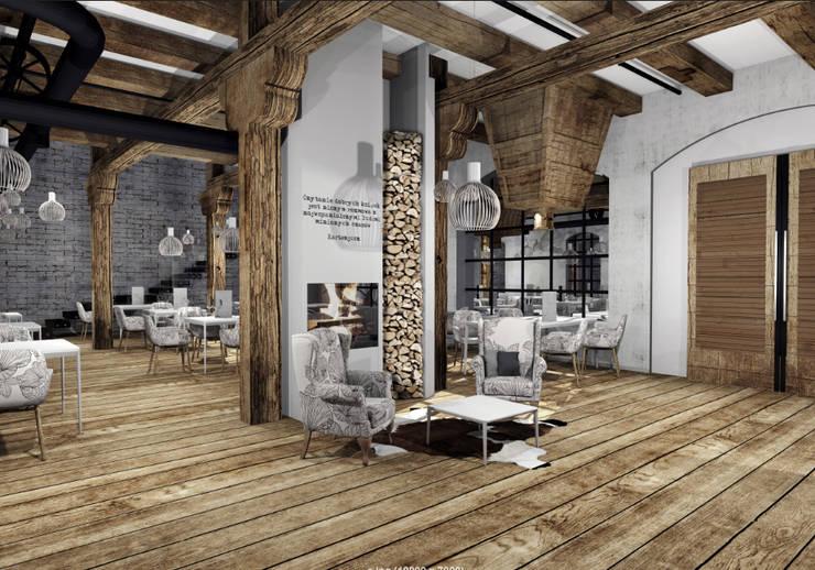 Restauracja Stary Młyn: styl , w kategorii Gastronomia zaprojektowany przez FOORMA Pracownia Architektury Wnętrz,Rustykalny