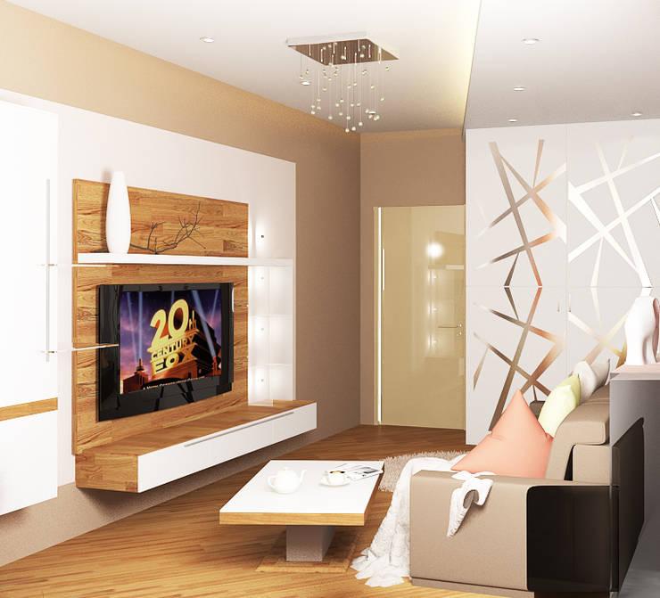 4х комнатная квартира: Гостиная в . Автор – Мозжерина Марина
