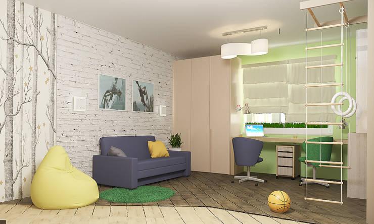 4х комнатная квартира: Детские комнаты в . Автор – Мозжерина Марина , Эклектичный