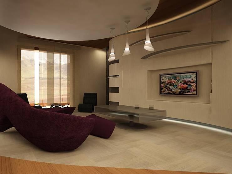 teknogrup design – villa:  tarz Oturma Odası, Minimalist