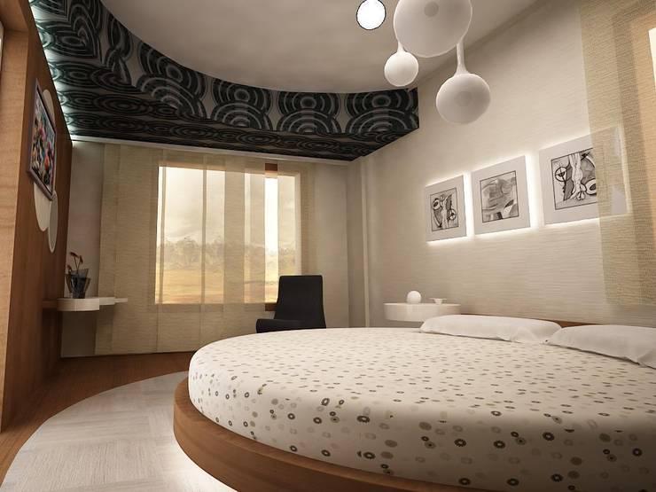teknogrup design – villa:  tarz Yatak Odası, Minimalist