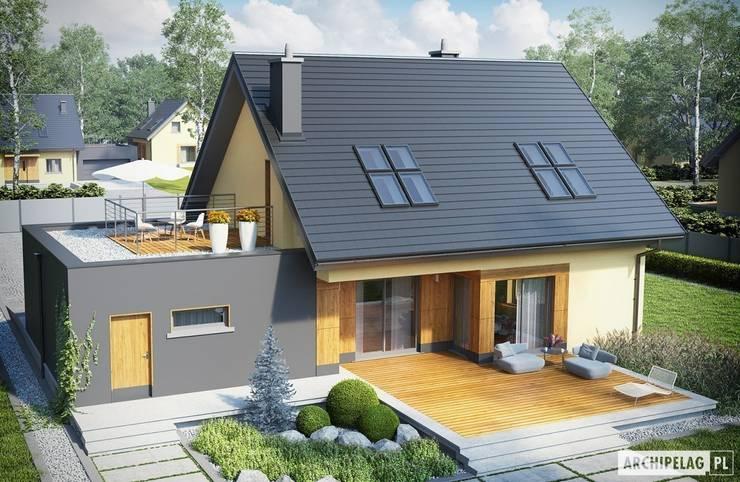 Garage/Rimessa in stile moderno di Pracownia Projektowa ARCHIPELAG Moderno