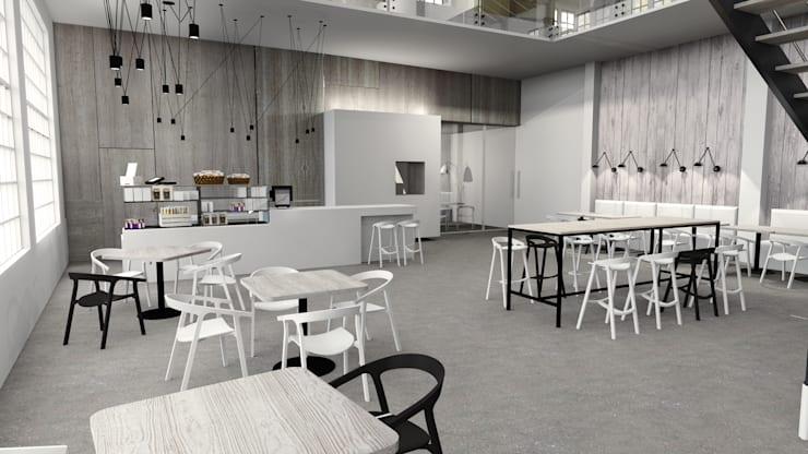 Stara Fabryka Drutu Gliwice: styl , w kategorii Gastronomia zaprojektowany przez FOORMA Pracownia Architektury Wnętrz