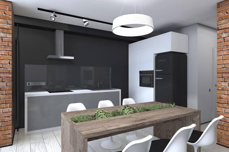 Квартира в стиле лофт: Кухни в . Автор – ИНТЕРЬЕР-ПРОЕКТ.РУ,