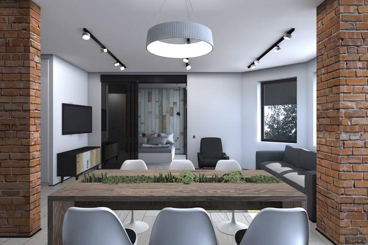 Квартира в стиле лофт: Столовые комнаты в . Автор – ИНТЕРЬЕР-ПРОЕКТ.РУ,