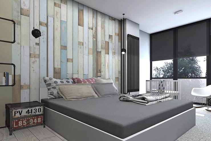 Квартира в стиле лофт: Спальни в . Автор – ИНТЕРЬЕР-ПРОЕКТ.РУ,