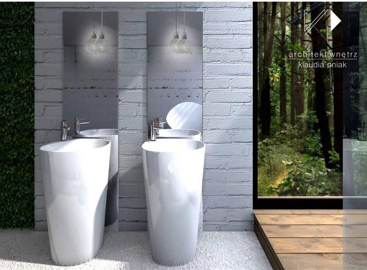 Łazienka : styl , w kategorii Łazienka zaprojektowany przez Architekt wnętrz Klaudia Pniak,