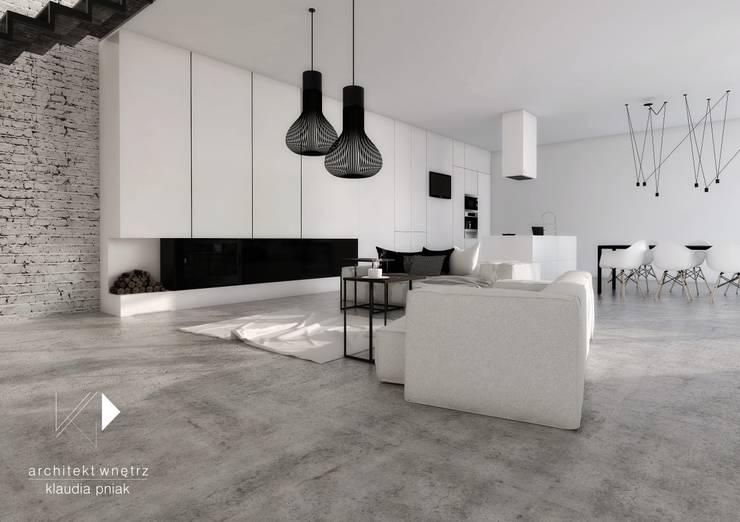 Kamienica Gliwice : styl , w kategorii Salon zaprojektowany przez Architekt wnętrz Klaudia Pniak