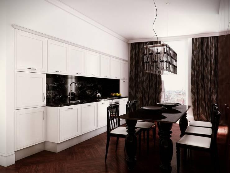 Kuchnia i jadalnia: styl , w kategorii Kuchnia zaprojektowany przez KODO projekty i realizacje wnętrz