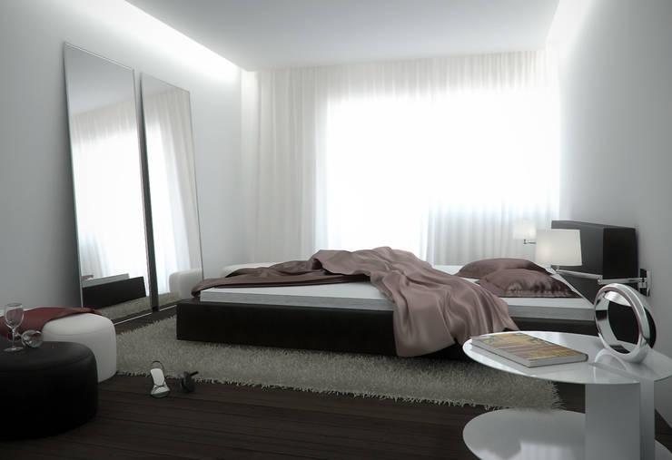 moderne Slaapkamer door KODO projekty i realizacje wnętrz