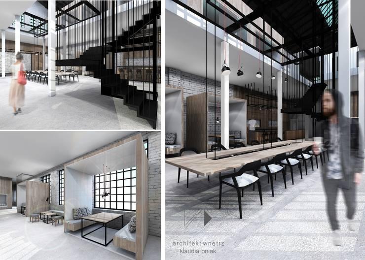 Centrum edukacyjne&bistro w Gliwicach: styl , w kategorii Gastronomia zaprojektowany przez Architekt wnętrz Klaudia Pniak