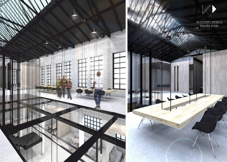 Centrum edukacyjne&bistro w Gliwicach: styl , w kategorii Biurowce zaprojektowany przez Architekt wnętrz Klaudia Pniak
