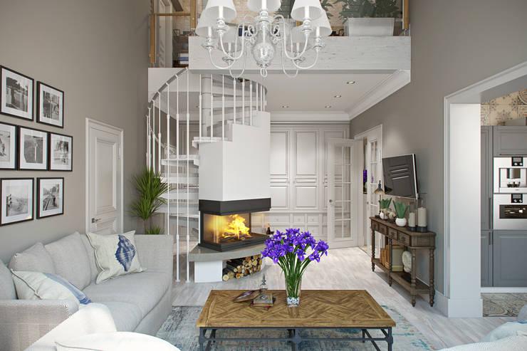 Рай в Шалаше: Гостиная в . Автор – Дарья Баранович Дизайн Интерьера
