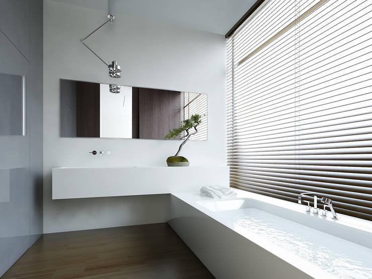 Łazienka: styl , w kategorii Łazienka zaprojektowany przez KODO projekty i realizacje wnętrz