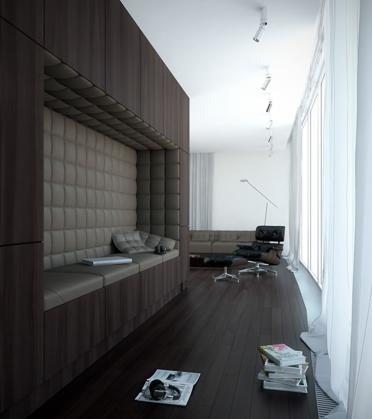 Kącik do czytania: styl , w kategorii Salon zaprojektowany przez KODO projekty i realizacje wnętrz