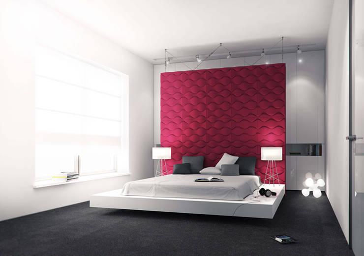 Sypialnia z garderobą: styl , w kategorii Sypialnia zaprojektowany przez KODO projekty i realizacje wnętrz,