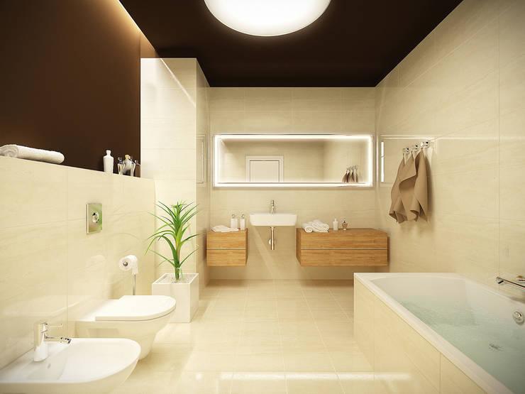 Łazienka: styl , w kategorii Łazienka zaprojektowany przez KODO projekty i realizacje wnętrz,