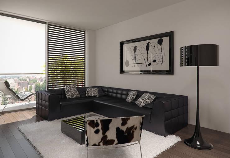 Salon: styl , w kategorii Salon zaprojektowany przez KODO projekty i realizacje wnętrz