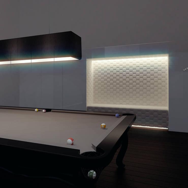 Pokój bilardowy: styl , w kategorii Salon zaprojektowany przez KODO projekty i realizacje wnętrz